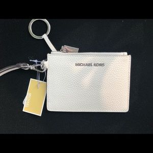 Michael Kors Coin Purse. In optic white